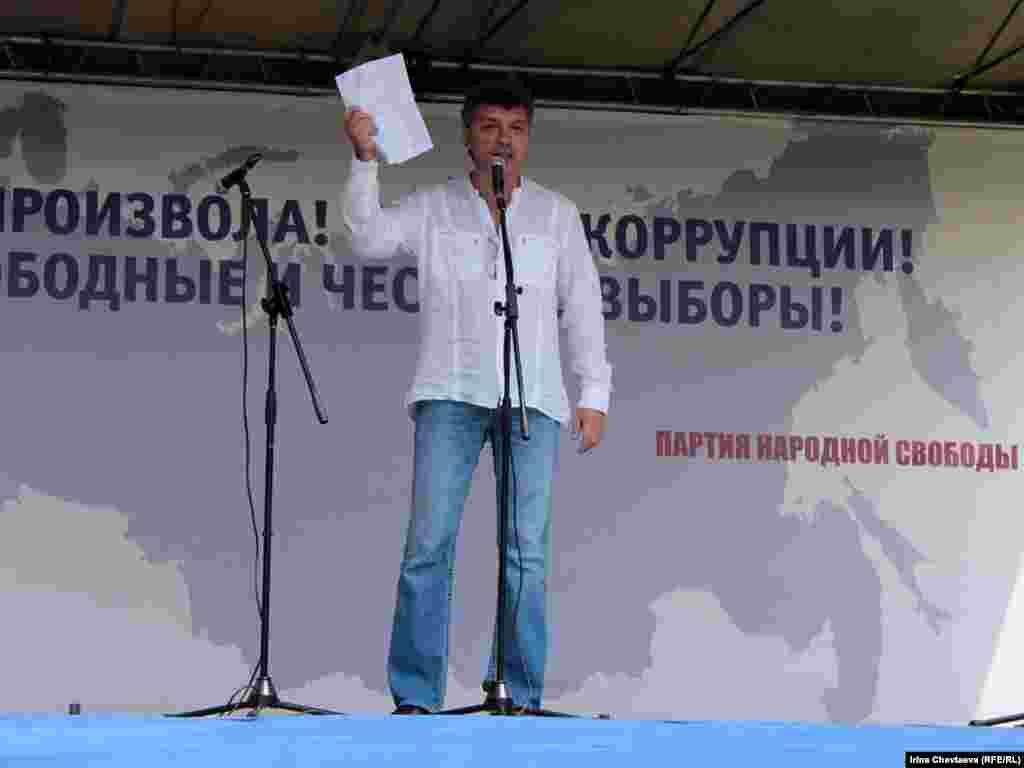 Выступление Бориса Немцова