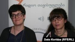 მარიამ ნატროშვილი (მარცხნივ), მაგდა გურული