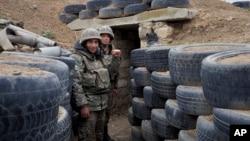 Արցախի ՊԲ զինծառայողները մարտական դիրքում, հոկտեմբեր, 2020թ.