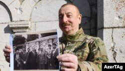 Ильхам Алиев в городе Шуша (Шуши), 14 января 2021 года