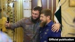 Нохчийчоьнан парламентан спикер Даудов Магомед а, мехкан куьйгалхо Кадыров Рамзан а