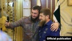 Магомед Даудов и Рамзан Кадыров, архивное фото