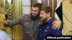 Спикер парламента ЧР Магомед Даудов и глава региона Рамзан Кадыров, архивное фото