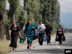 Беженцы из Абхазии в 2008 году