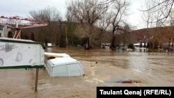 Pamje nga vërshimet në Kosovë.