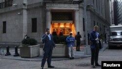 Здание Нью-Йоркской торговой биржи. Иллюстративное фото.
