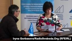 Уполномоченная Верховной Рады по правам человека Валерия Лутковская во время приема граждан, Мариуполь, 14 марта 2017 года
