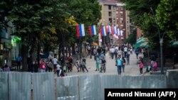 Pamja nga Mitrovica Veriore.