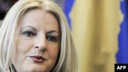 Edita Tahiri, zëvendëskryeministre dhe koordinatore e grupit negociator në dialogun Prishtinë - Beograd.