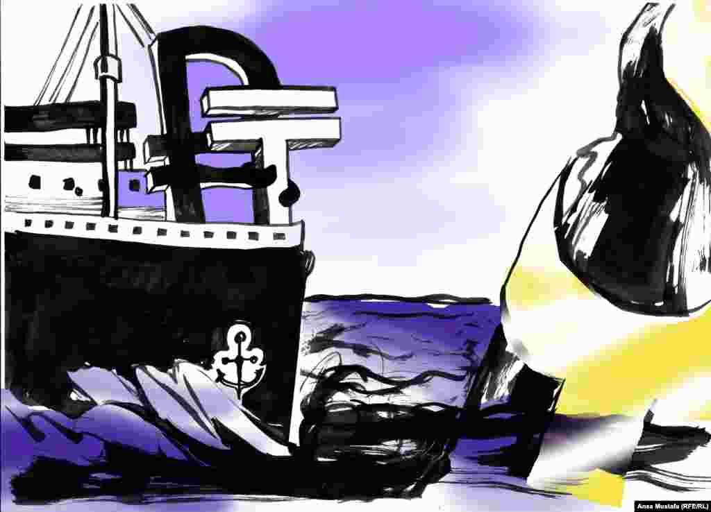 """""""Рубль"""" и """"тенге"""" на борту """"Титаника"""". Автор - Анса Мустафа."""