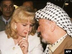 یاسر عرفات و همسرش سُهی
