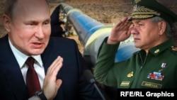 Президент РФ Владимир Путин и министр обороны Сергей Шойгу.