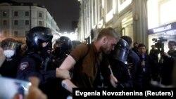Затримання учасників протесту в Москві, Росія, 15 липня 2020 року