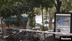Место взрыва в турецкой столице