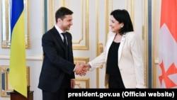 Владимир Зеленский и Саломе Зурабишвили (2019 год)