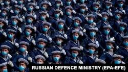 Репетиция парада Победы в окрестностях Москвы, 10 июня 2020 года.