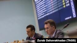 Ուկրաինա - Կենտրոնական ընտրական հանձնաժողովի նախագահ Միխայլո Օխենդովսկին ներկայացնում է խորհրդարանական ընտրությունների արդյունքները, Կիև, 27-ը հոկտեմբերի, 2014թ․