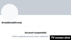 Contul de Twitter al președintelui Trump a fost suspendat permanent