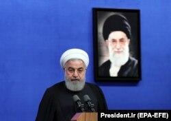 Иран президенті Хассан Роухани. Тегеран, 21 мамыр 2018 жыл.