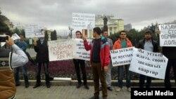 Пикет обманутых дольщиков в Казани