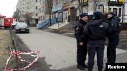 Poliția rusă la St. Petersburg, 6 aprilie 2017