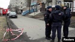 Сотрудники полиции в Санкт-Петербурге.