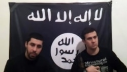 A screenshot of two men who claim in a video posted on the Internet that they were behind the Volgograd bombings.