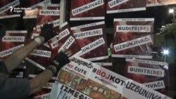 Protest u Beogradu: 'Krajnje je vreme budite (se) uzbunjivači'