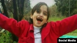 A pictured shared on social media of the Afghan migrant girl Setayesh Qoreishi who was killed outside Tehran on April 10.