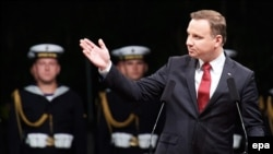 The legislation on judicial bills will be sent to Polish President Andrzej Duda (file photo).