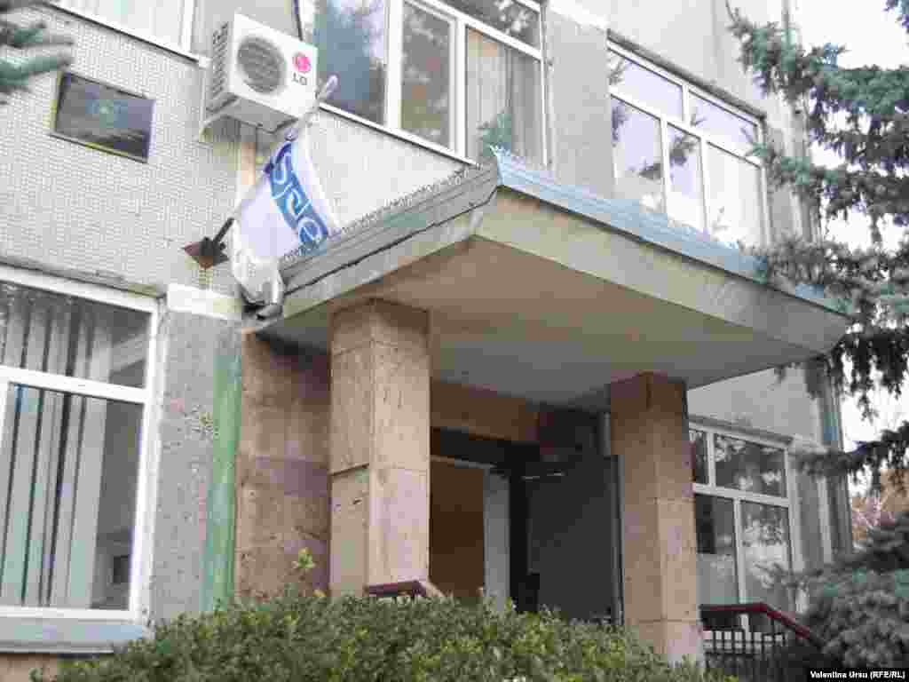 Ajunsi la Tighina, la oficiul Misiunii OSCE in Republica Moldova, locul unde urmeaza sa poarte discutii Filat si Smirnov
