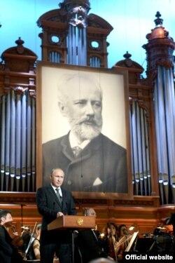 Vladimir Putin la Concertul de gală de la Moscova