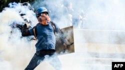 Протесты в Каракасе в мае 2017 года (архивное фото)