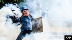 Nga protestat e opozitës në Venezuelë...