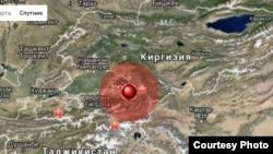 Очаг землетрясения располагался на территории Кыргызстана, в 27 километрах к юго-востоку от города Ош.