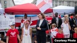 Țihanovskaia și diaspora belarusă din SUA în Piața Libertății din Washington, 18 iulie 2021.