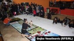 Razglednica dimenzija 10 sa šest metara izložena je u banjalučkom Domu omladine