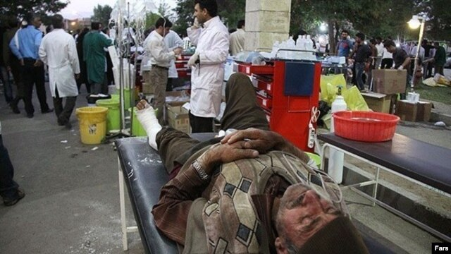 Mobile hospitals have been set up to treat the injured.