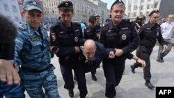 Затрыманьни падчас гей-прайду у Маскве