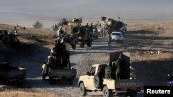 Forcat kurde në Irak gjatë operacionit për rimarrjen e qytetit Mosul