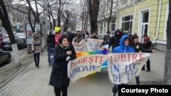Молдовалық ЛГБТ шеруі. Кишинев, ақпан, 2013 жыл