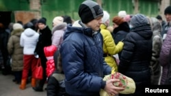 Очередь за гуманитарной помощью (архивное фото)