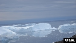 An arctic ice floe near Greenland (file photo)