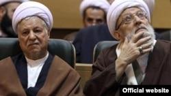 آیتالله مهدوی کنی (راست) در کنار اکبر هاشمی رفسنجانی