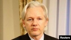 Основатель сайта Wikileaks Джулиан Ассанж. Лондон, 30 июля 2013 года.