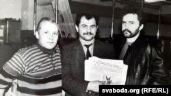 Газэта «Пагоня», Горадня, Міхась Карневіч, Мікола Маркевіч, Сяргей Астраўцоў, 1992
