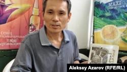 Переводчик стихов Абая на корейский язык Ким Бён Хак. Алматы, 9 августа 2013 года.