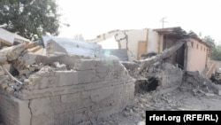 The destroyed school in Kunduz