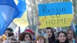 Антивоєнна маніфестація на захист України відбулася під час саміту ЄС