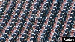 Ռուսաստան - Մեծ հայրենականում Հաղթանակի 70-ամյակին նվիրված շքերթը Մոսկվայի Կարմիր հրապարակում, 9-ը մայիսի, 2015թ․